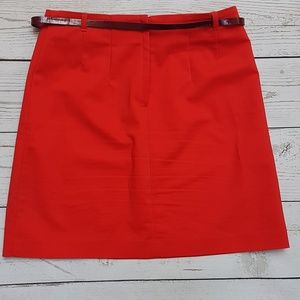Red H&M Skirt with belt barely used